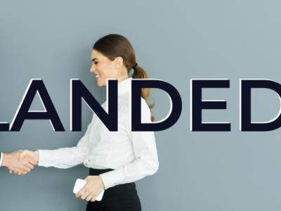 LANDED! blog banner