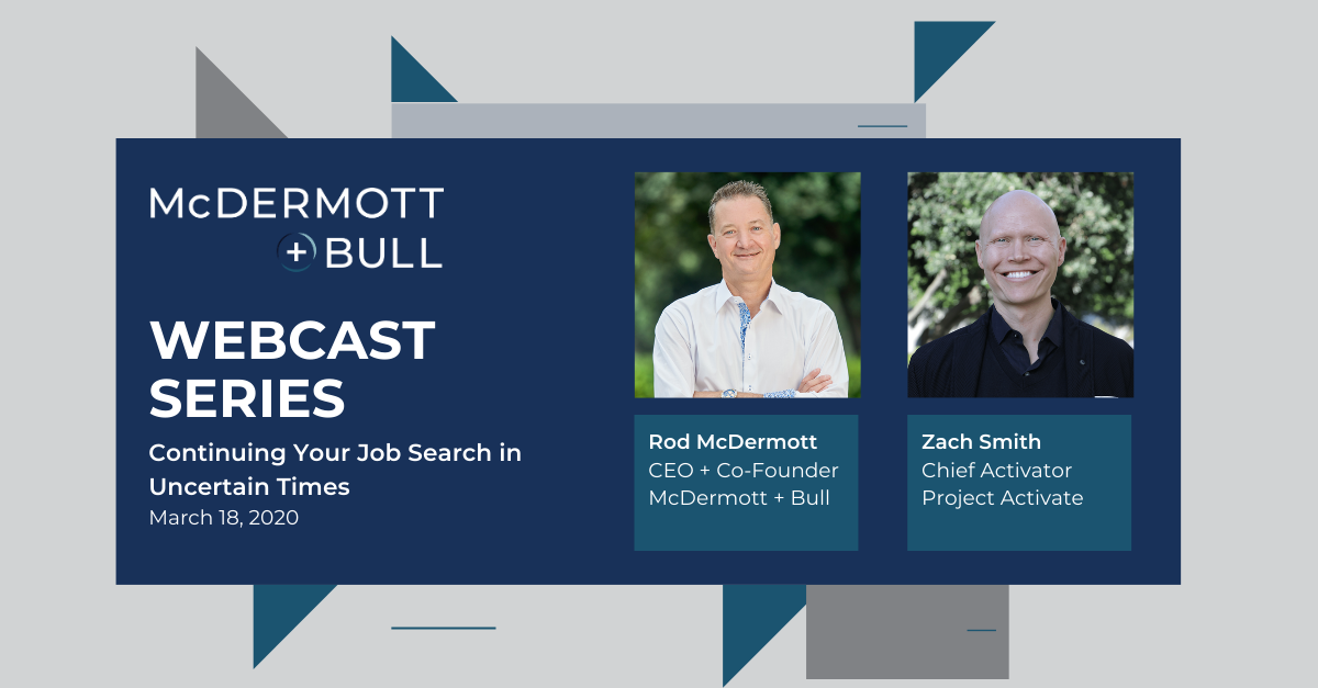WEBCAST: Continuing Your Job Search in Uncertain Times